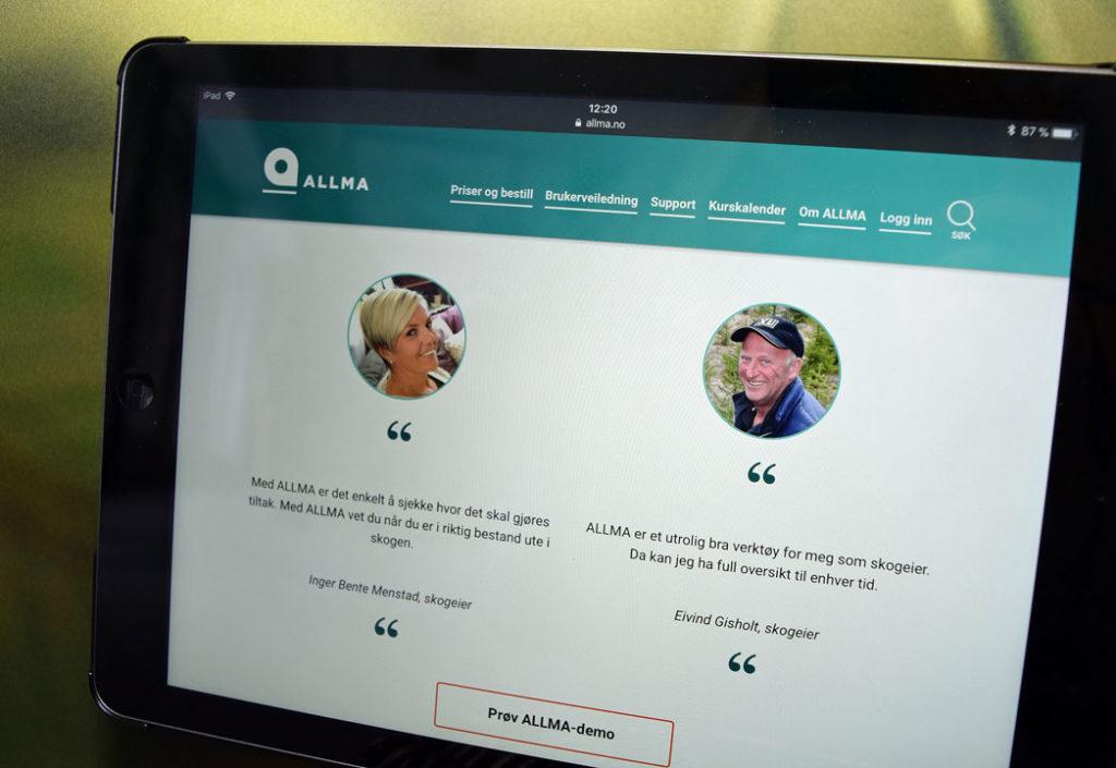 Se den nye nettsiden til ALLMA