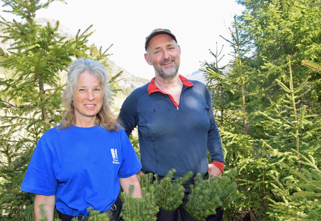 Øystein og Diana skal plante 30 000