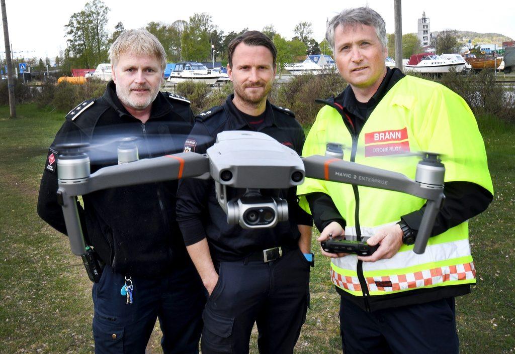 Bruker drone i skogbrannslokking