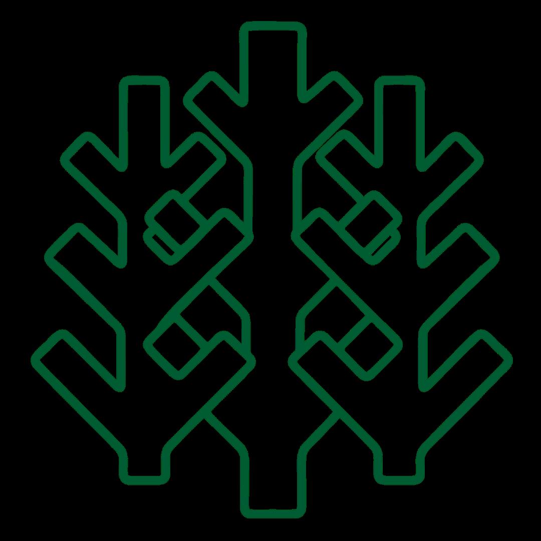 AT Skog logo trær logo